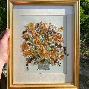 Vintage Framed Floral Wall Art *PRICE FIRM